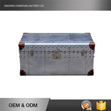 MDF Frame User-Friendly Metal Cover Wooden Storage Trunk