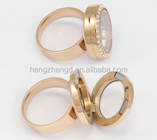 Ally express cheap wholesale ring/stainless steel locket ring