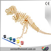 Educational Toys Dinosaur Drawing DIY 3D Wooden Puzzle