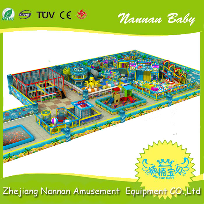 Kids indoor playground with sand play equipment