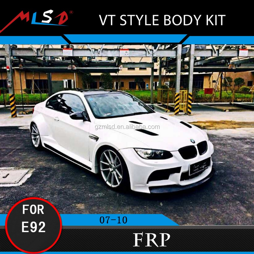 High Quality FRP Material Perfect Fitment VT Style Body Kit for BMW E92M3