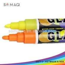 wholesale LOW MOQ non-toxic Fluorescent Marker Pen 8 color for dying the hair