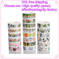 New arrival high quality 15mm washy tape of flowers design fresh style masking tape