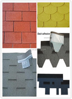 colorful asphalt shingles for roof covering and waterproofing