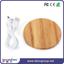 OEM top selling new design wooden qi wireless charger for lenovo