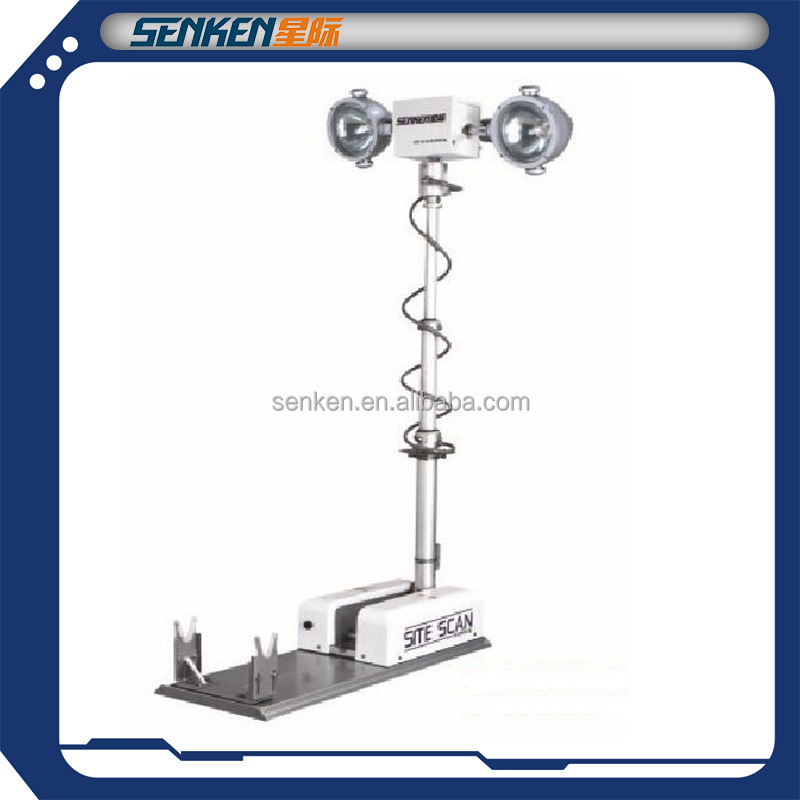 truck and police car roof mounted night scan tower light and telescopic high mast Light