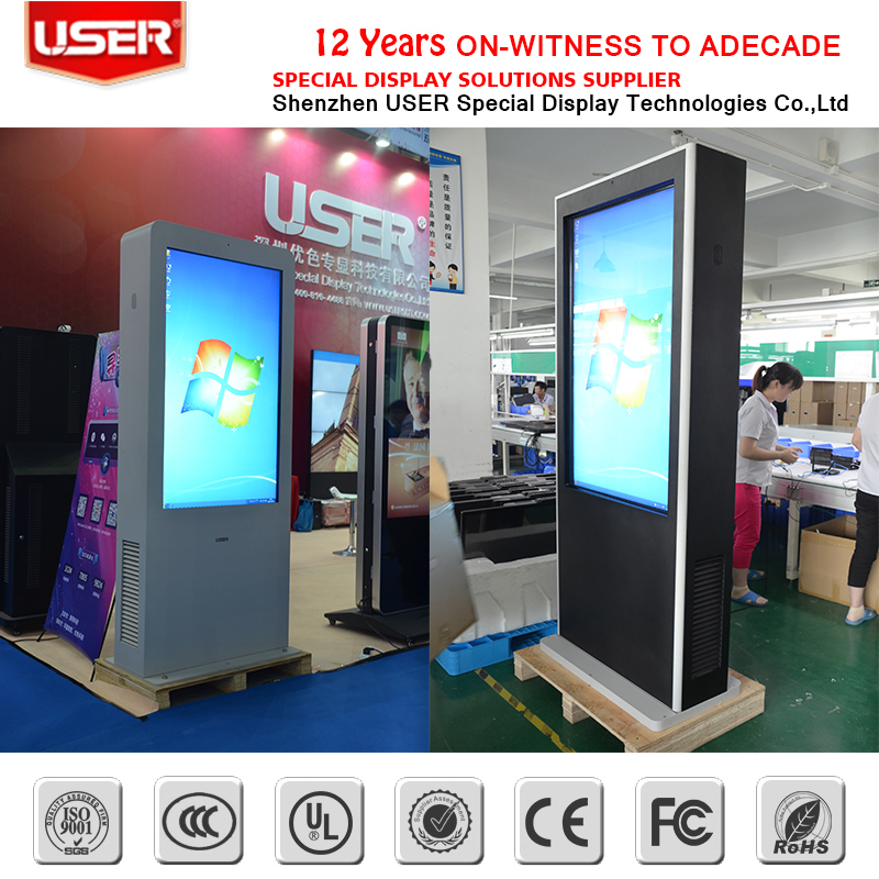 55 inch 2000nit lcd ad display ,photo booth lcd kiosk,outdoor lcd digital signage totem