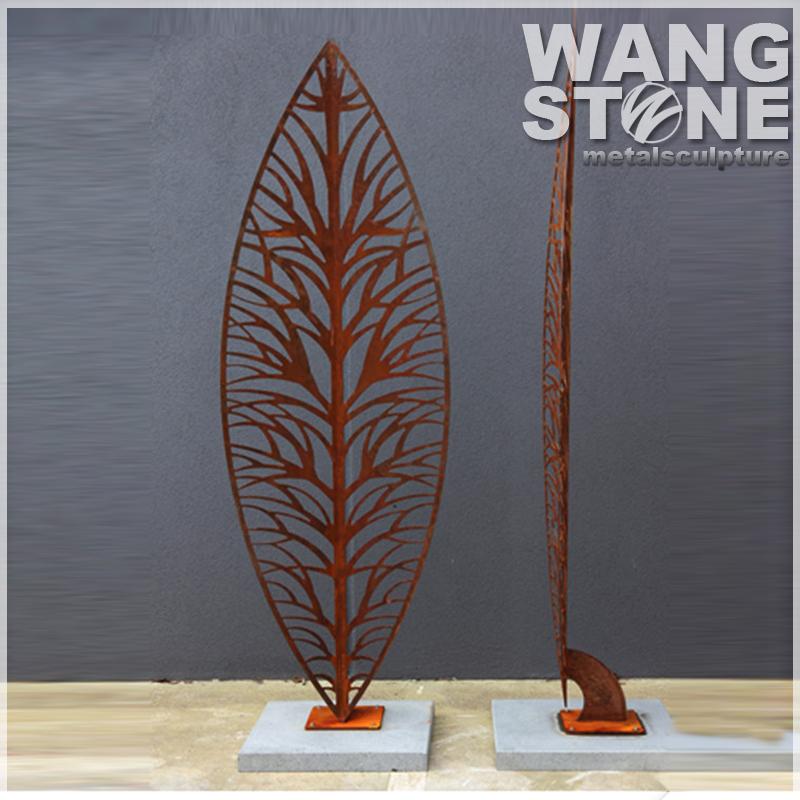 acero corten jardn arte rbol esculturas de metal oxidado