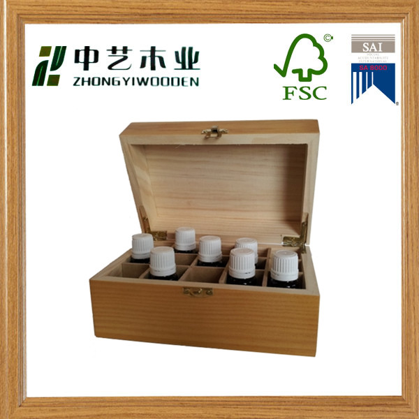 Gold latch and strong hinges Wooden Essential Oil Box essential oil bottle storage box at best price