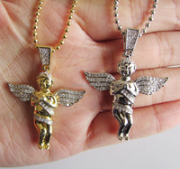 2016 high quality angel piece hip hop men chain jewelry chain necklace
