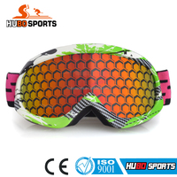 HUBO high quanlity skiing snow sport game helmet goggles with elastic strap tited lens REVO HB-177