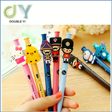 Cheap cute cartoon children plastic press ball point pen