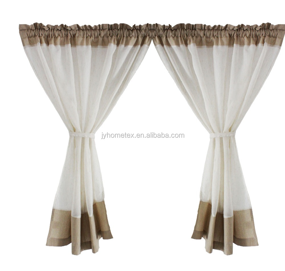 2016 new design kitchen cafe curtain with cheap price /polyester line cafe curtain