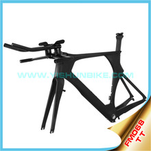 YISHUNBIKE best quality UCI standard FM068 aerodynamic best quality integrated time trial bicycle frame carbon