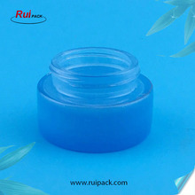 50g Manufacturer Blue Glass Ceam Jar with Black Lid Cosmetic Cream Container