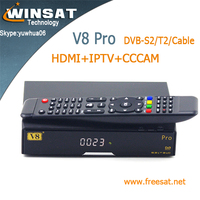 twin tuner V8 pro ali 3601 full hd satellite receiver DVB-S2/T2/Cable iptv set top box better than cloud ibox 3
