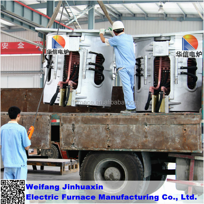 250KG SCR Crucible Reduction Gear Melting Iron Induction Furnace