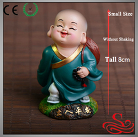 Resin little monk statue interior decoration for car and construction car interior decoration