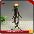 New design silver antler candle holder for hotel decoration