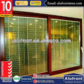 Aluminum Glass Lift and Sliding Door with built-in blinds