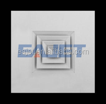 Aluminum air square ceiling diffuser