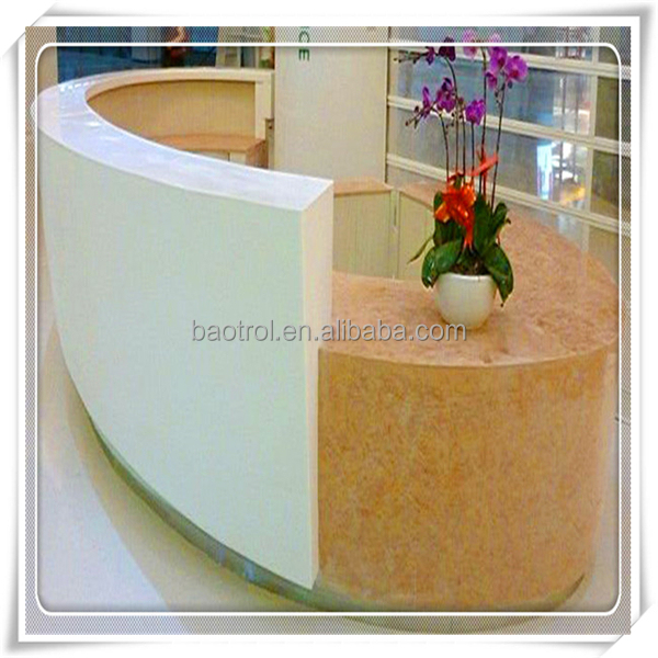 Northern ireland circular reception desk joinery/quality reception desk