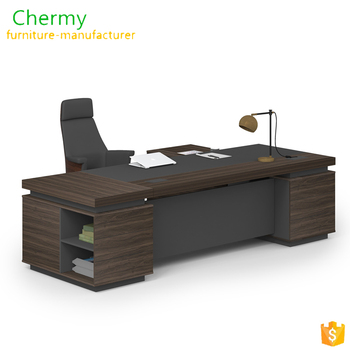 Classic wood office table executive ceo desk office table design