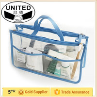 Waterproof Clear Transparent PVC multifunctional Make Up Organizer Cosmetic Bags for women girls