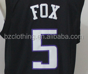 Sacramento De'Aaron Fox #5 Black Stitched National Basketball Jersey