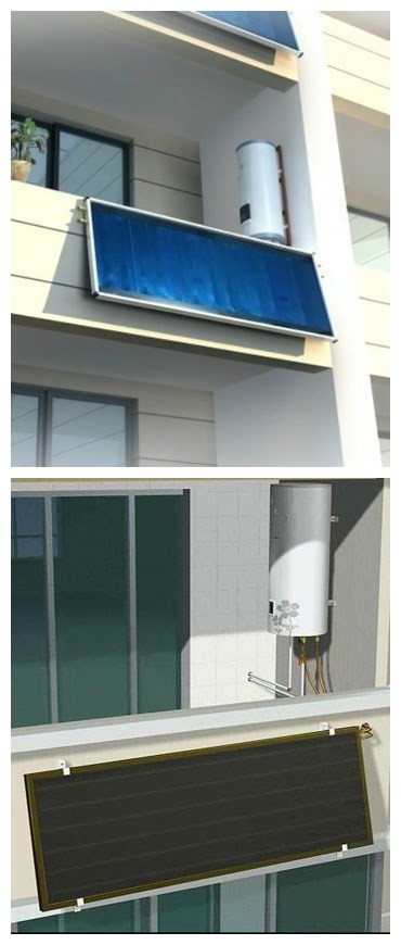 SHw-BK 150L Solar Energy Electric Power Home Use Balcony Wall Hanging Solar Water Heater  Grade-A High Collector Efficiency