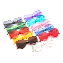 Wholesale Flat <strong>Sunglasses</strong> For Party,Funny Transparent Recycled <strong>Plastic</strong> <strong>Sunglasses</strong>,Popular Candy Color Heart Shaped <strong>Sunglasses</strong>