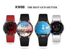 Smart Watch KW88 MTK6580 1.39 inch Android 5.1 Bluetooth 4.0 3G Amoled Screen Quad Core 512MB RAM 4GB ROM wifi GPS Pedometer