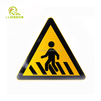 Top selling seamless aluminum solar LED warning light traffic road sign board