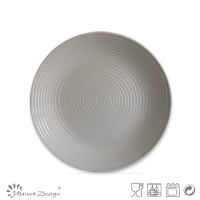 ceramic dessert plate light grey color