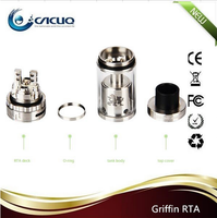 Wholesale Black Silver Stainless Steel Geekvape Griffin RTA Tank Fast Shipping Geek Vape Griffin RTA Atomizer