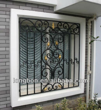 artistic cast iron window grill design