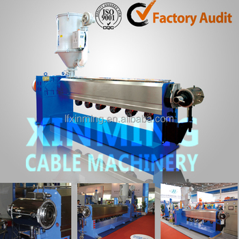 High speed PVC cable extruder line, plastic cable extrusion machine, electric cable automatic coiling & wrapping machine