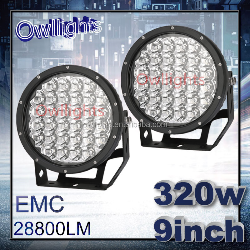 Owllights China 4x4 Car Accessories, 12 volt LED Lamp 9inch 320w Off Road LED Driving Light 320 Watt LED Work Light