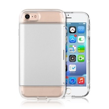 PC card slot holder 2 in 1 combo back cover for iPhone 7 case tpu transparent housing