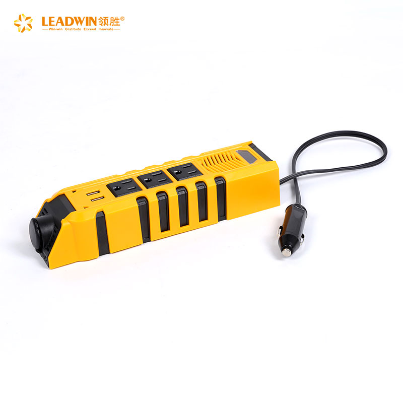 Hot sale emergency power supply yellow 150w car converter 12v 110v <strong>dc</strong> to ac mini modified sine wave car power inverter