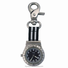 metal alloy hanging golf bag watch with nylon strap