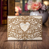Wholesale handmade wedding design gold luxury printing greeting invitation card cw5018