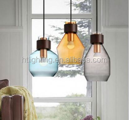 Modern style glass clear cover vintage pendant lamp / lighting