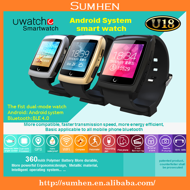UWatch Bluetooth Smart Watch U18