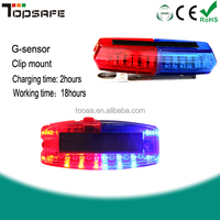 Mini rechargeable warning traffic police flashing shoulder led lights