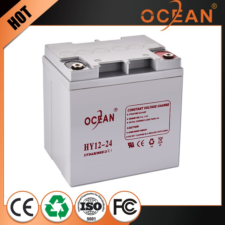 Deft design factory direct sell best price 12V 24ah UPS battery