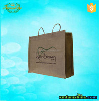 eco-friendly plain jute tote bags for shopping
