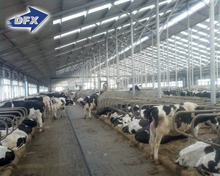 prefabricated steel poultry chicken cow farm building
