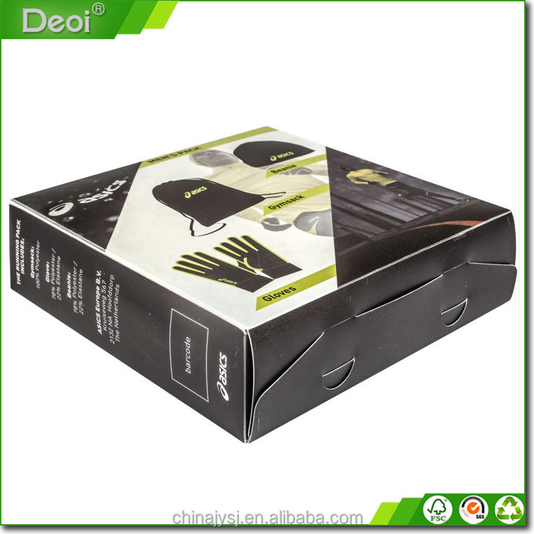 Eco-friendly hard plastic clear box package with cover
