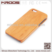 Hot sales good quality for iphone 5 wood case, wood case plastic case